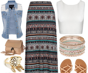 dream catcher, sandals, and skirt image