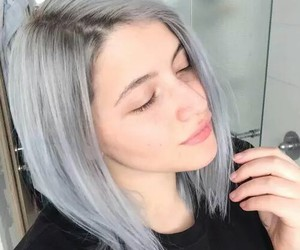 grey, grey hair, and hair image