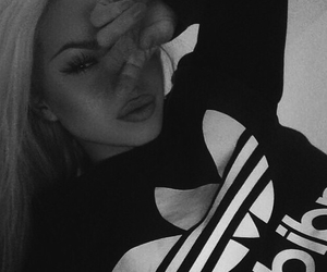 girl, adidas, and beauty image