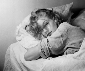 woman, black and white, and simone signoret image