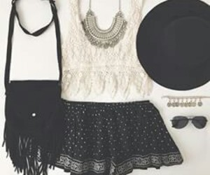 beautiful, black&white, and outfit image