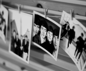 beatles, black and white, and fame image