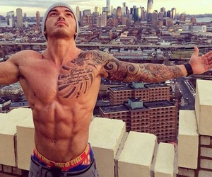 city, hot man, and Tattoos image