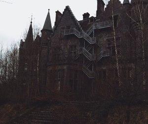 dark, house, and black image
