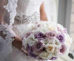 wedding, flowers, and roses image
