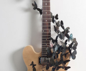 butterflies and guitar image
