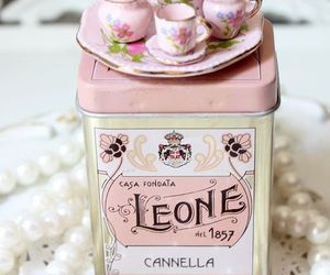 pink, vintage, and tea image