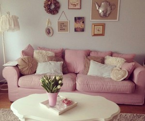 pink, cozy, and decor image