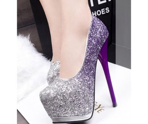 shoes, fashion, and violet image