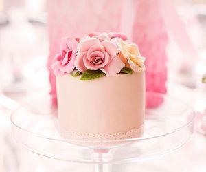 cake, sweet, and pastel image