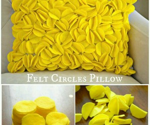 diy, pillow, and yellow image