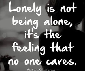 lonely, quotes, and alone image