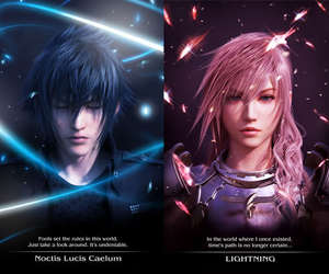 lightning and noctis image