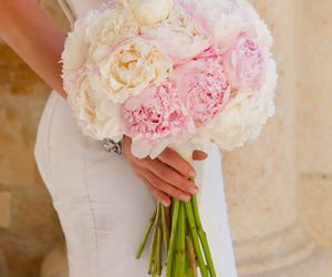 wedding, bouquet, and bride image