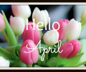april, beautiful, and calendar image