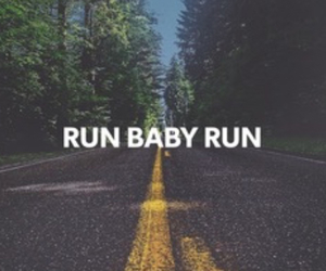 quotes, road, and run image