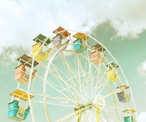 ferris wheel and pastel image