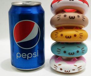 cat, donut, and Pepsi image