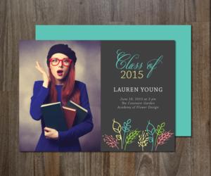invitation, photo card, and graduation card image