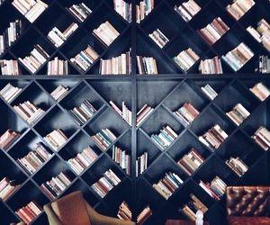 books, bookshelf, and design image