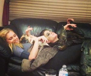 the 100, eliza taylor, and marie avgeropoulos image
