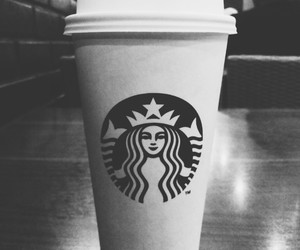 black, bw, and coffee image