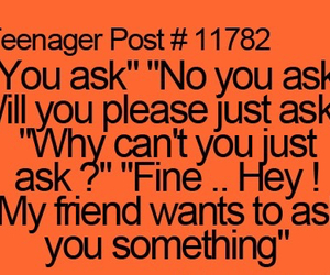 friends, funny, and ask image