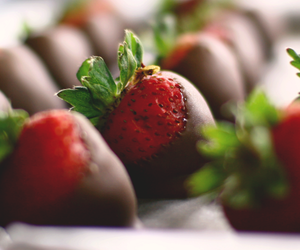 strawberry, chocolate, and yummy image