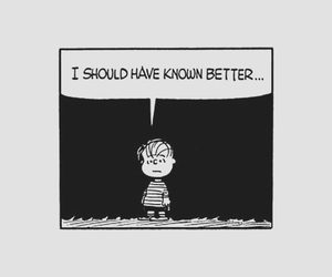 peanuts, black and white, and charlie brown image
