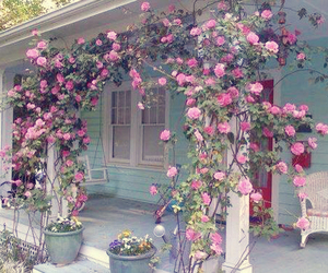 house, pink, and shabby chic image