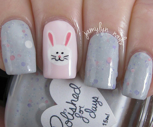 bunny, easter, and grey image