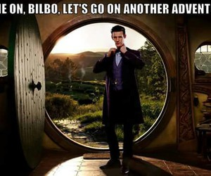 doctor who, bilbo, and hobbit image