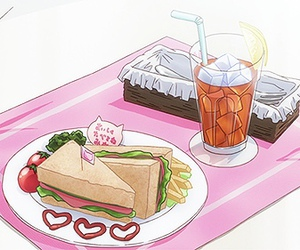 anime, gif, and food image