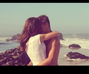 couple, inlove, and beach image