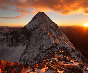 mountains, sunset, and nature image