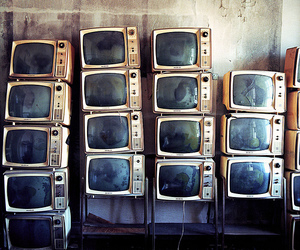 vintage, tv, and television image