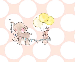 celebrate, elephant, and rabbit image