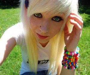 piercing, girl, and scene image