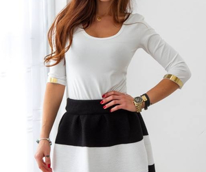 brown hair, outfit, and hair image