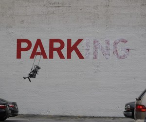 park, parking, and art image