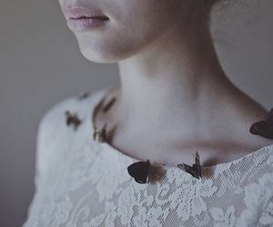 butterflies, girl, and style image