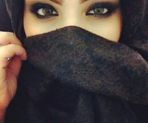 eyes, hijab, and beauty image