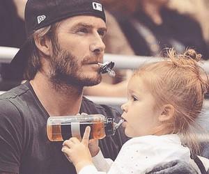 David Beckham and baby image