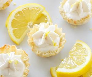 cream cheese, pie, and lemon image
