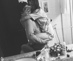 black and white, Relationship, and couple cute image
