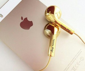 gold, smartphone, and apple image