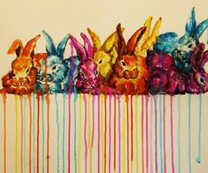 bunny, happy easter, and rabbit image