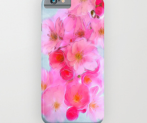cherry blossom, flowers, and iphone case image