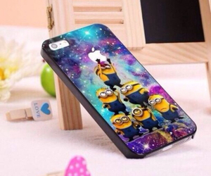 minions, apple, and iphone image