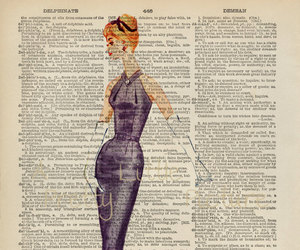 art, dictionary, and fashion image